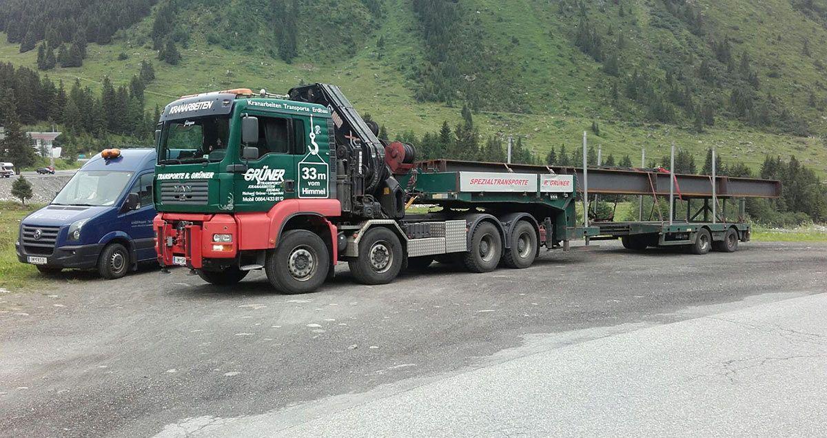 Falkner Maschinenbau Fussgängerbrücke in Vent